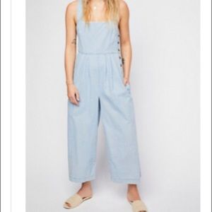 Free People Fara denim jumpsuit